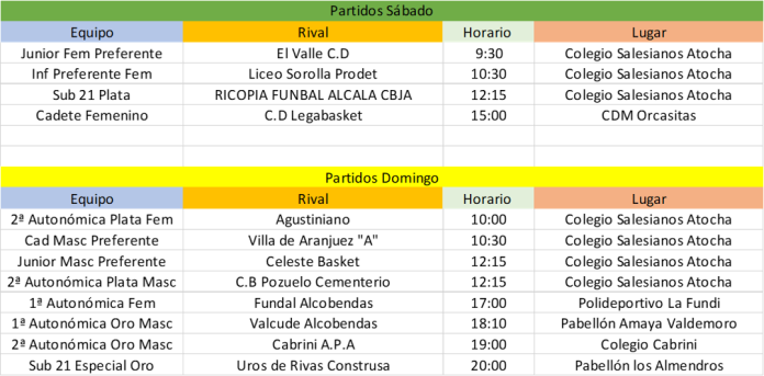 Horario 18112018